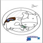 Bricolage coloriages - Fenêtre pendentif de Vache 3