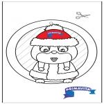 Bricolage coloriages - Fenêtre pendentif - Hamster 2