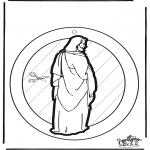 Coloriages Bible - Fenêtre pendentif - Jésus