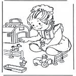 Coloriages pour enfants - Ferme miniature