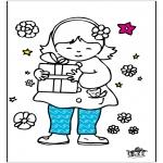 Coloriage thème - Fête des mères 6