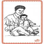 Coloriage thème - Fête des Pères 2