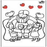 Coloriage thème - Fête des Pères 5