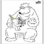 Coloriage thème - Fête des Pères - Ours