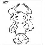 Coloriages pour enfants - Fille 4