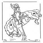 Coloriages d'animaux - Fille à cheval 2