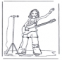 Fille avec guitare