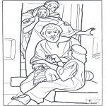 Coloriages Bible - Fille de Jaire 3