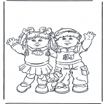 Coloriages pour enfants - Fille et Garçon