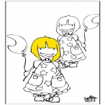 Coloriages pour enfants - Filles 1