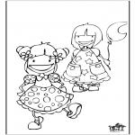 Coloriages pour enfants - Filles 2