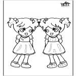 Coloriages pour enfants - Filles 3