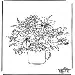 Coloriages faits divers - Fleurs 2