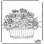 Coloriages faits divers - Fleurs 3