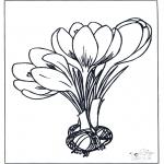Coloriages faits divers - Fleurs de printemps 1