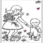 Coloriages faits divers - Fleurs de printemps 2
