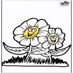 Coloriages faits divers - Fleurs de printemps 3