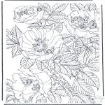 Coloriages faits divers - Fleurs et elfes