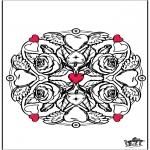Coloriage thème - Fleurs - Saint-Valentin