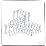 Coloriages faits divers - Formes géométriques 9