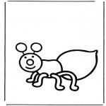 Coloriages d'animaux - Fourmis