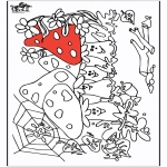 Coloriages faits divers - Fungi 2