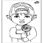 Coloriages pour enfants - Garçon 1