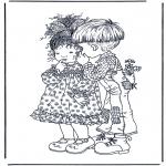 Coloriages faits divers - Garçon et fille