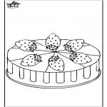 Coloriages faits divers - Gâteau aux fraises