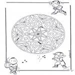 Mandala - Geo mandala d'enfant