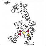 Coloriages d'animaux - Giraffe 5