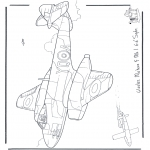Coloriages faits divers - Gloster Meteor