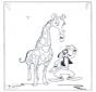 Goofy et giraffe