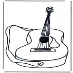Coloriages faits divers - Guitare 1