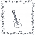Coloriages faits divers - Guitare 2