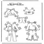 Bricolage coloriages - habits de poupée à habiller 1
