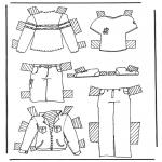 Bricolage coloriages - habits de poupée à habiller 2