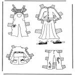 Bricolage coloriages - habits de poupée à habiller 3