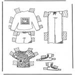 Bricolage coloriages - habits de poupée à habiller 5