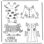 Bricolage coloriages - habits de poupée à habiller 6