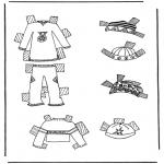 Bricolage coloriages - habits de poupée à habiller 7