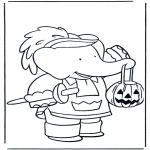 Coloriage thème - Halloween Babar
