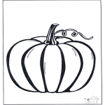 Coloriage thème - Halloween courge