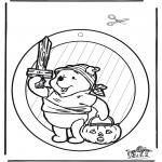 Coloriage thème - Halloween - Fenetre pendentif 1