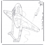 Coloriages faits divers - Havilland Vampire