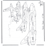 Coloriages faits divers - Hawker Hunter