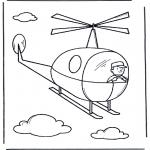 Coloriages faits divers - Hélicoptère 2