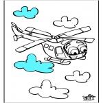 Coloriages faits divers - Hélicoptère 3