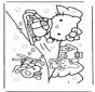 Hello Kitty dans la neige