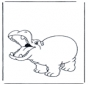 Hippopotame contant